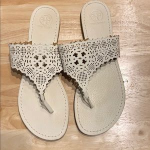 Tory burch laser cut sandal size 9